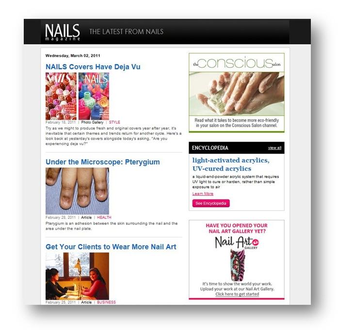 Email Marketing - NAILS Magazine Online Media Kit